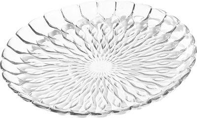 Plat Jelly /Centre de table - Ø 45 cm - Kartell transparent en matière plastique