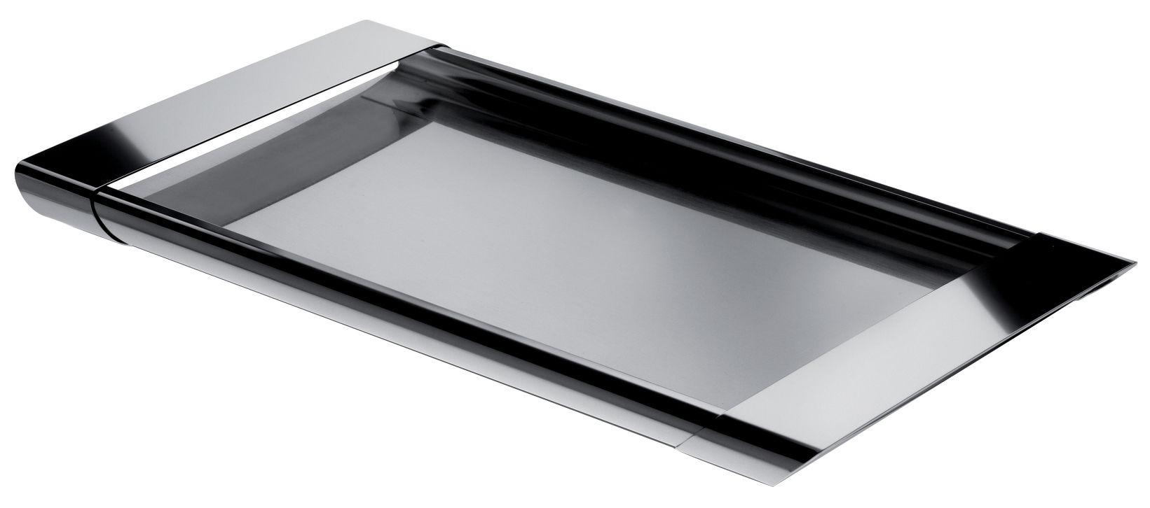 Arts de la table - Plateaux - Plateau Tiffany / 46 x 26 cm - Alessi - Acier - Acier inoxydable
