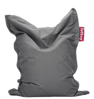 Pouf Junior Stonewashed / Pour enfant - Fatboy Larg 100 x L 130 cm gris en tissu