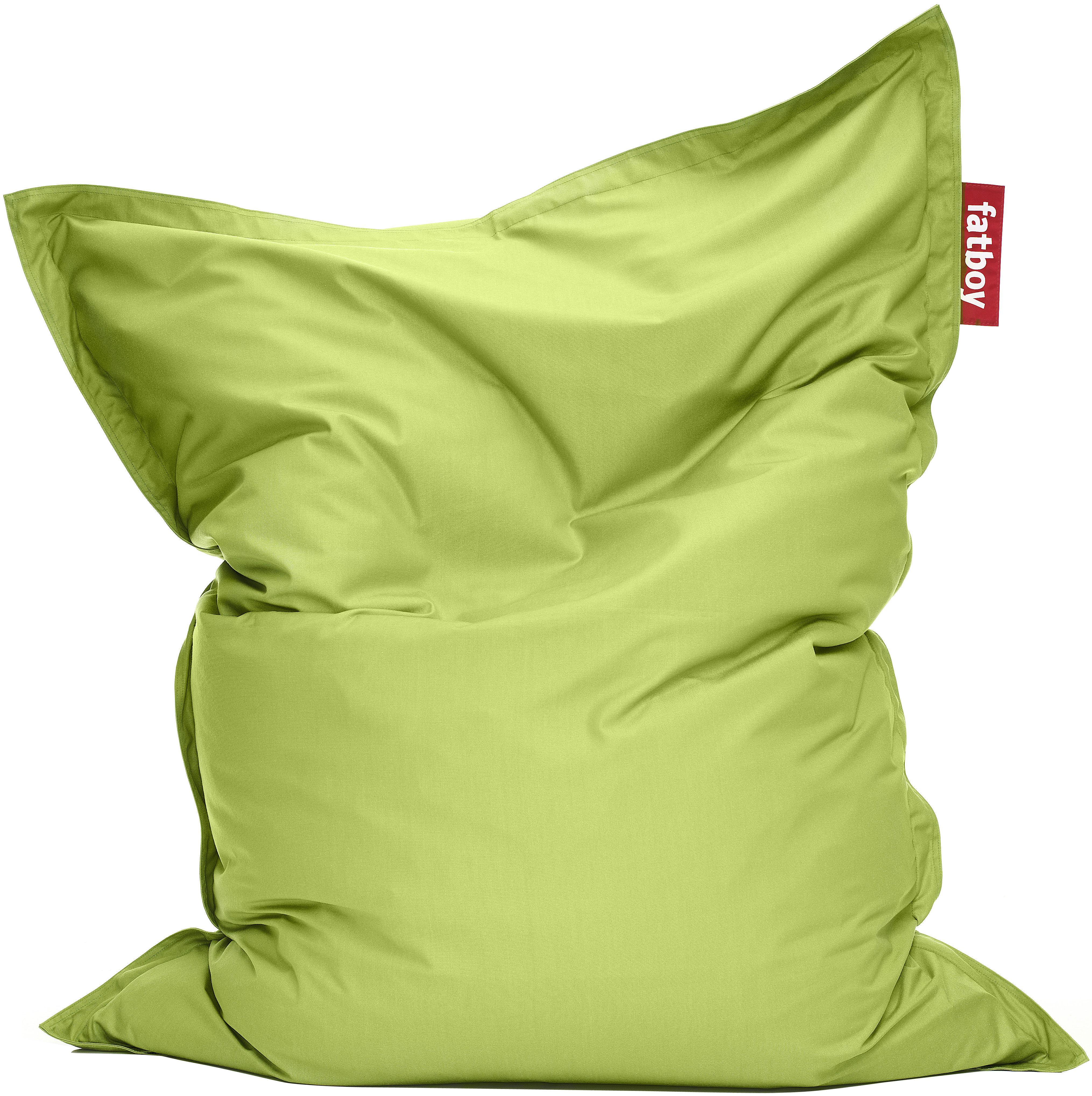 Mobilier - Mobilier Ados - Pouf The Original Outdoor / Pour l'extérieur - Fatboy - Citron vert - Microbilles de polystyrène, Toile acrylique