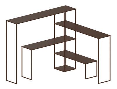 Möbel - Regale und Bücherregale - Easy Bridge Regal / 4 modulare Platten - H 141 cm - Zeus - Bronze - bemalter Stahl