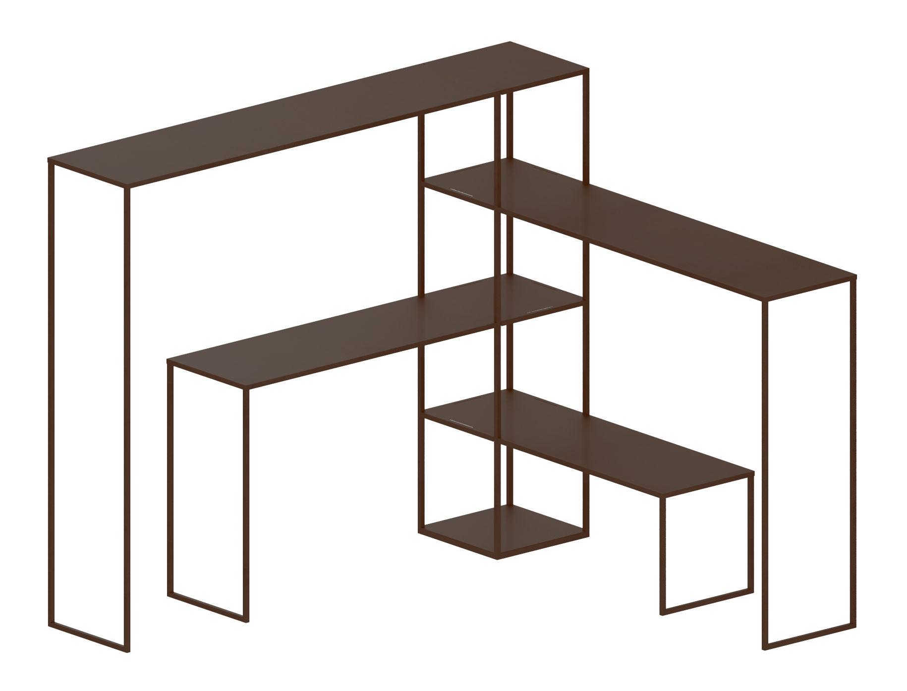 Arredamento - Scaffali e librerie - Scaffale Easy Bridge - / 4 piani modulabili - H 141 cm di Zeus - Bronzo - Acciaio verniciato