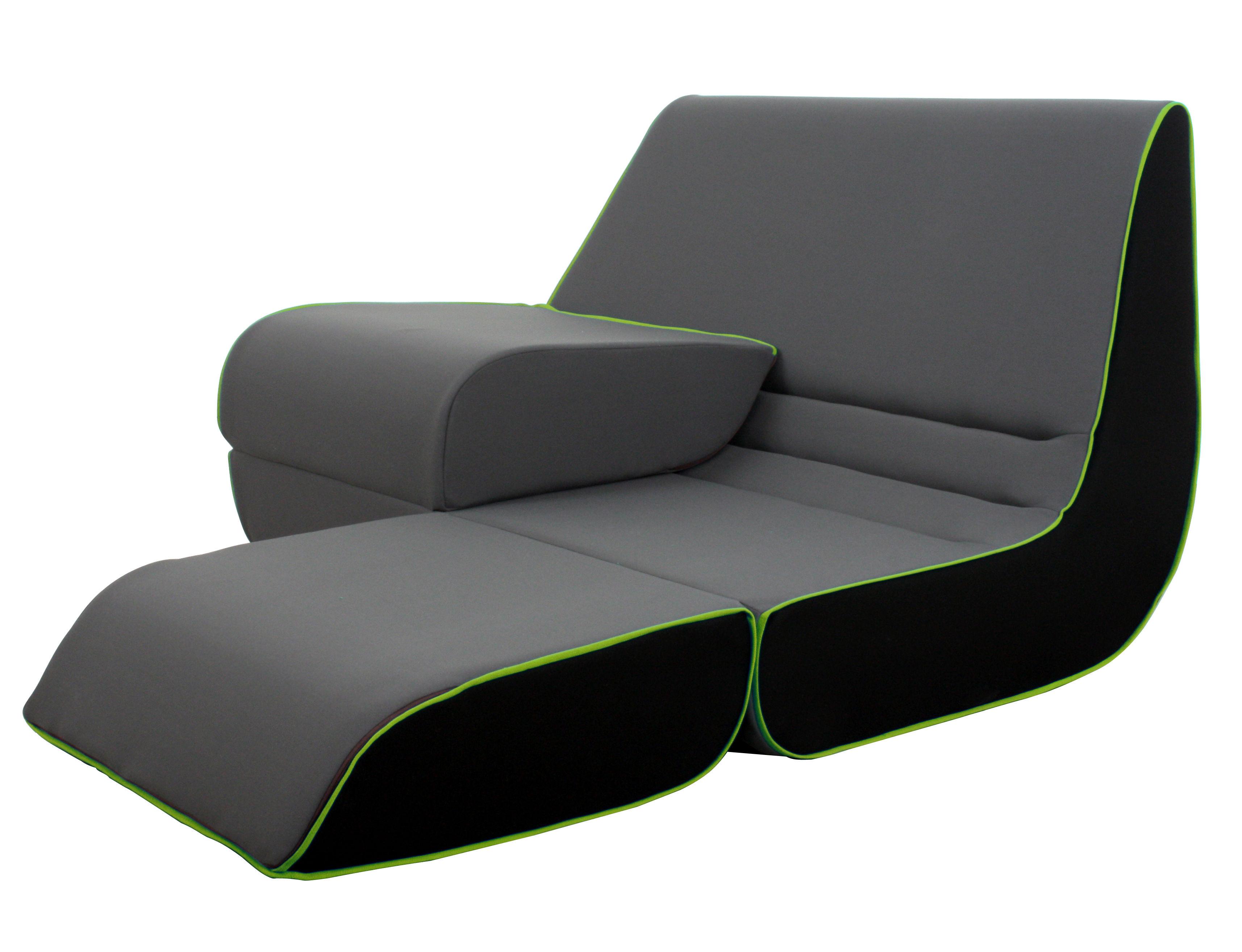 playtime by ora ito schlafcouch ausklappbar grau anthrazit schwarz gr ne borten by. Black Bedroom Furniture Sets. Home Design Ideas
