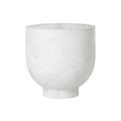 Seau à champagne Alza / Marbre - Ø 23 x H 23 cm - Ferm Living blanc en pierre