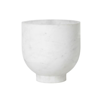 Tavola - Bar, Vino, Aperitivo - Secchiello da champagne Alza - / Marmo - Ø 23 x H 23 cm di Ferm Living - Bianco - Marmo