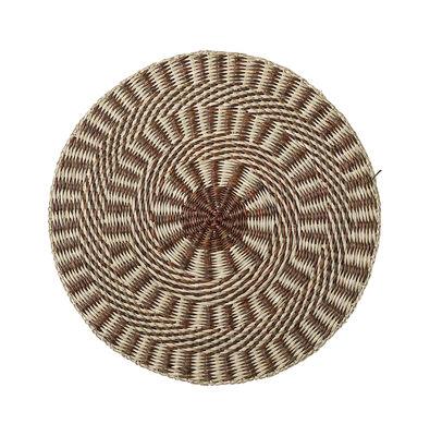 Tavola - Tovaglie e Tovaglioli - Set da tavola - / Erbaio marino - Ø 38 cm di Bloomingville - Marrone - Erba di mare