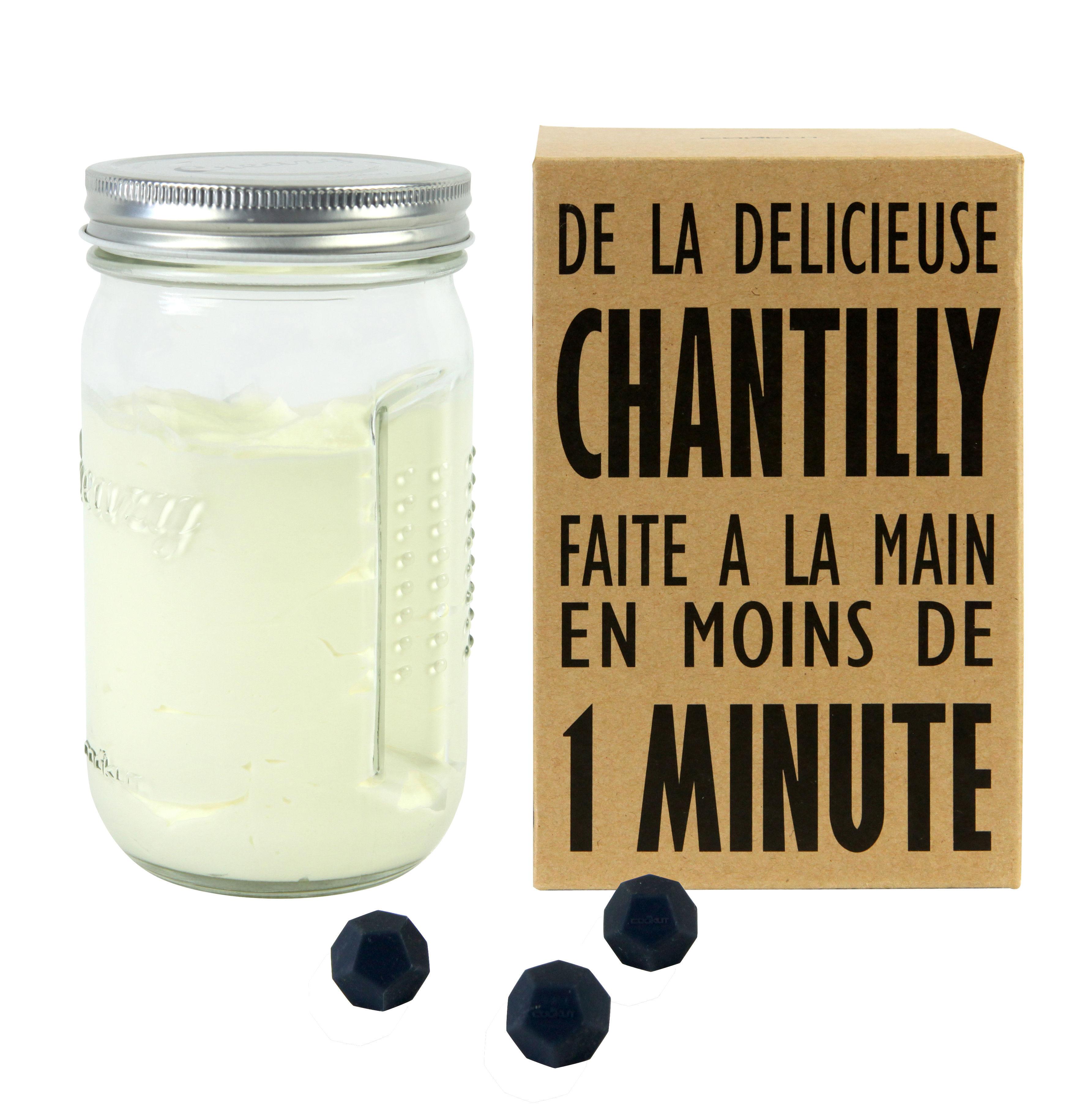 Cuisine - Ustensiles de cuisines - Shaker Creazy / Pour chantilly maison en 1 minute - Cookut - Transparent / Métal - Métal, Silicone, Verre