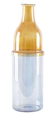 Déco - Vases - Soliflore Sunset Haut / Verre - Ø 12 x H 36,5 cm - Incipit - Ambre / Bleu - Verre soufflé