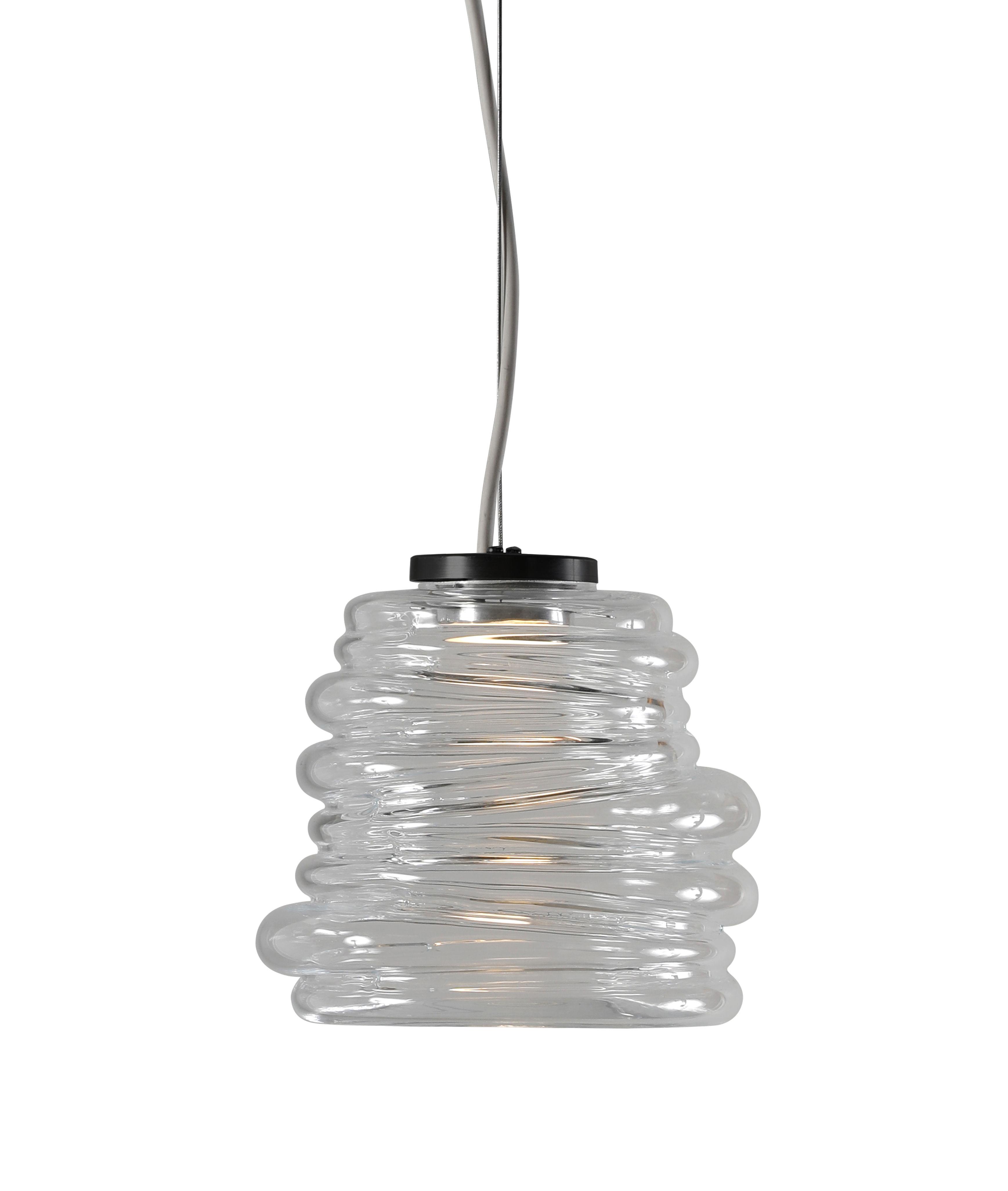 Illuminazione - Lampadari - Sospensione Bibendum LED - / Ø 15 cm - Vetro di Karman - Trasparente - Vetro