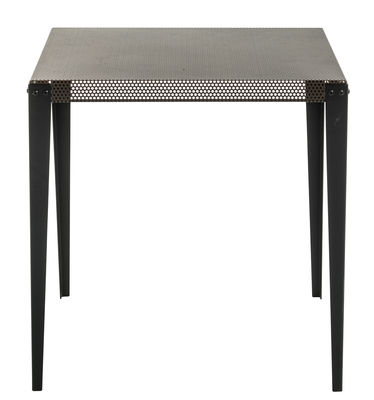Furniture - Dining Tables - Nizza Square table - 100 x 100 cm by Diesel with Moroso - Copper / Black leg - Varnished steel