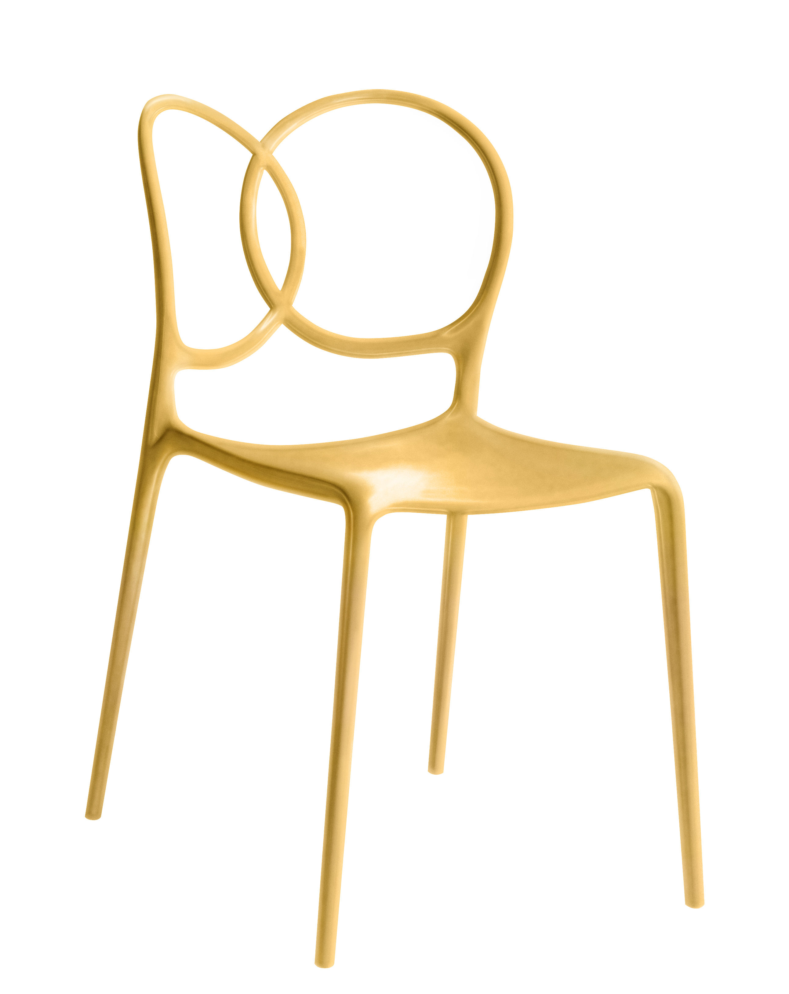 Furniture - Chairs - Sissi Stacking chair - Indoor by Driade - Gold - Fibreglass, Polypropylene, Polythene