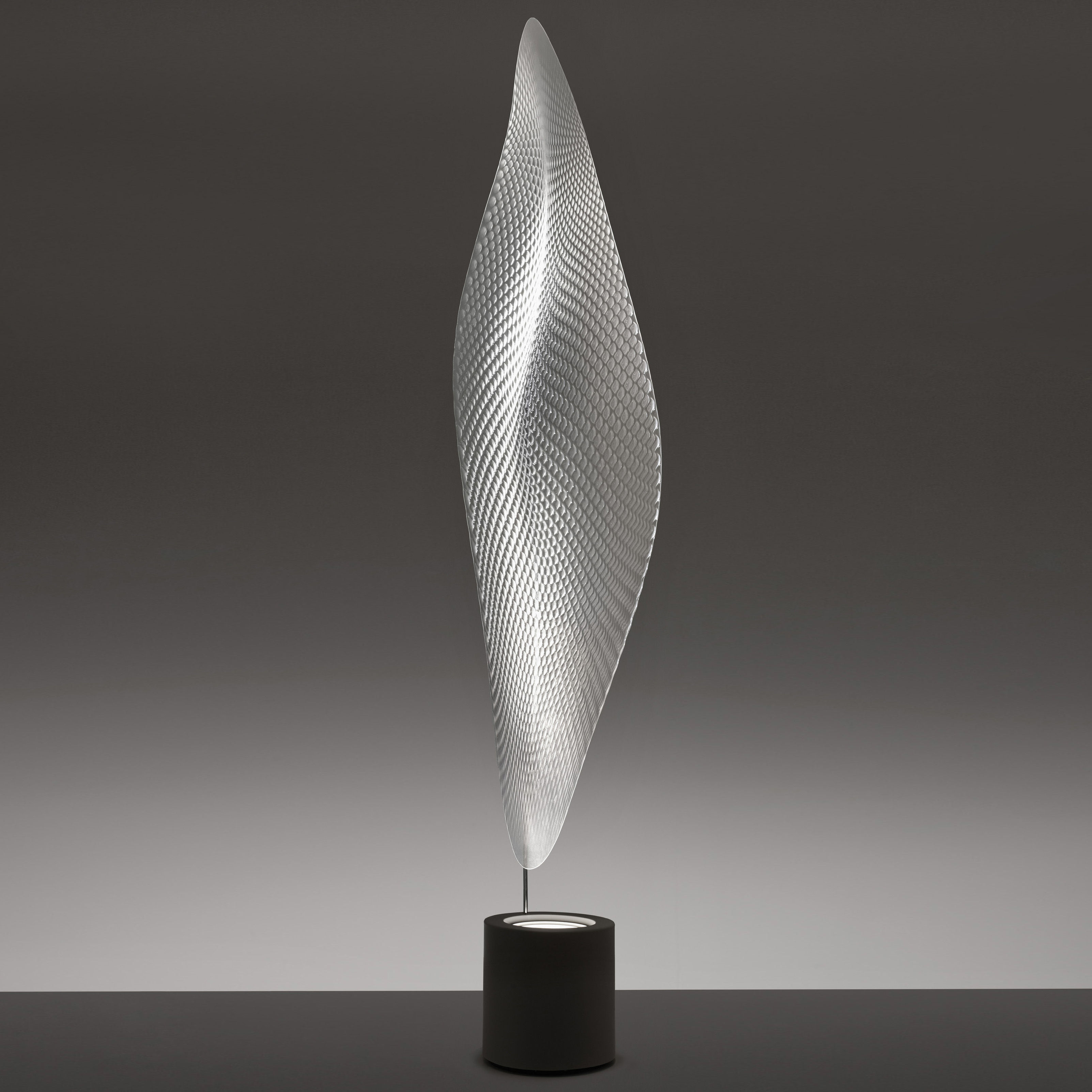 Leuchten - Stehleuchten - Cosmic leaf Stehleuchte - Artemide - Basis grau - Diffusor transparent - Metall, Methacrylate