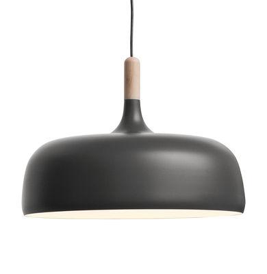 Luminaire - Suspensions - Suspension Acorn / Métal & bois - Ø 48 cm - Northern  - Anthracite / Bois - Aluminium, Chêne