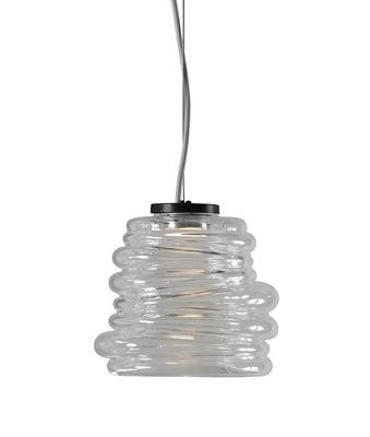Suspension Bibendum LED / Ø 15 cm - Verre - Karman transparent en verre