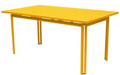 Table Costa / 160 x 80 cm - Fermob miel en métal