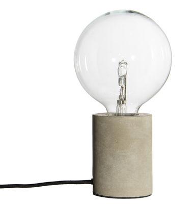 Lighting - Table Lamps - Bristol Table lamp - / Concrete by Frandsen - Concrete / Black cable - Concrete
