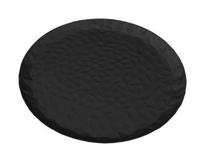 Tischkultur - Tabletts - Joy N.3 Tablett / Ø 40 cm - Alessi - Schwarz - Edelstahl mit Epoxidharz beschichtet