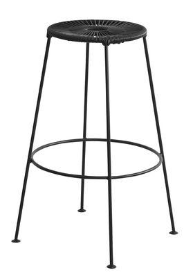 Tabouret de bar Acapulco / H 75cm - OK Design pour Sentou Edition noir en métal