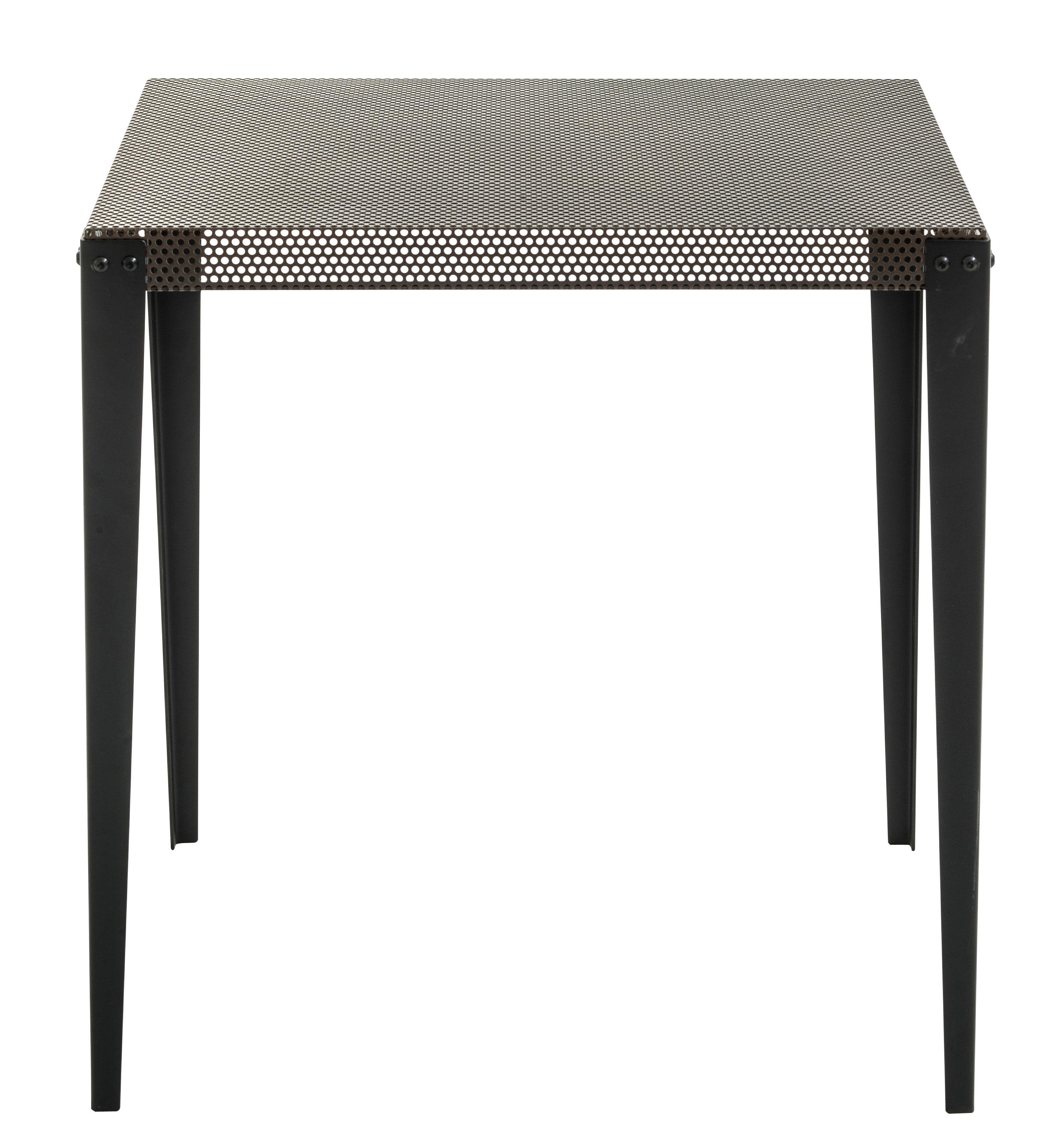 Arredamento - Tavoli - Tavolo quadrato Nizza - / 100 x 100 cm di Diesel with Moroso - Rame / Piedi neri - Acciaio verniciato