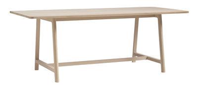 Arredamento - Tavoli - Tavolo rettangolare Frame - / L 200 cm di Hay - Piano legno / Gambe legno - Faggio