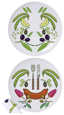 Küche - Gute Laune Accessoires - Surface 02 - Y'mie 2 Teller 2 Stück - Domestic - Bunt - Porzellan