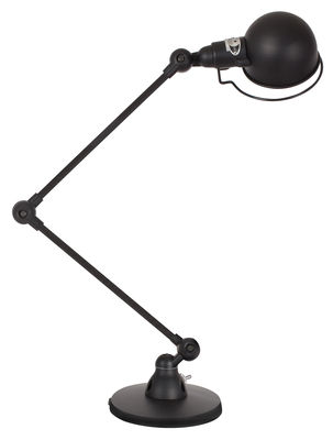 Signal Tischleuchte / mit 2 Gelenkarmen - H max. 60 cm - Jieldé - Schwarz glänzend