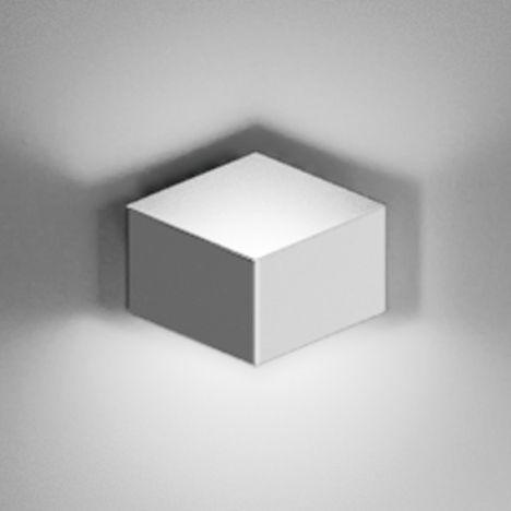 Leuchten - Wandleuchten - Fold Surface Wandleuchte LED / 1 Element - Vibia - Weiß - Aluminium, Methacrylate