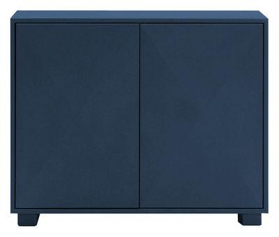 Möbel - Aufbewahrungsmöbel - Diamant Ablage mit Türen - Tolix - Nachtblau - Lackierter recycelter Stahl