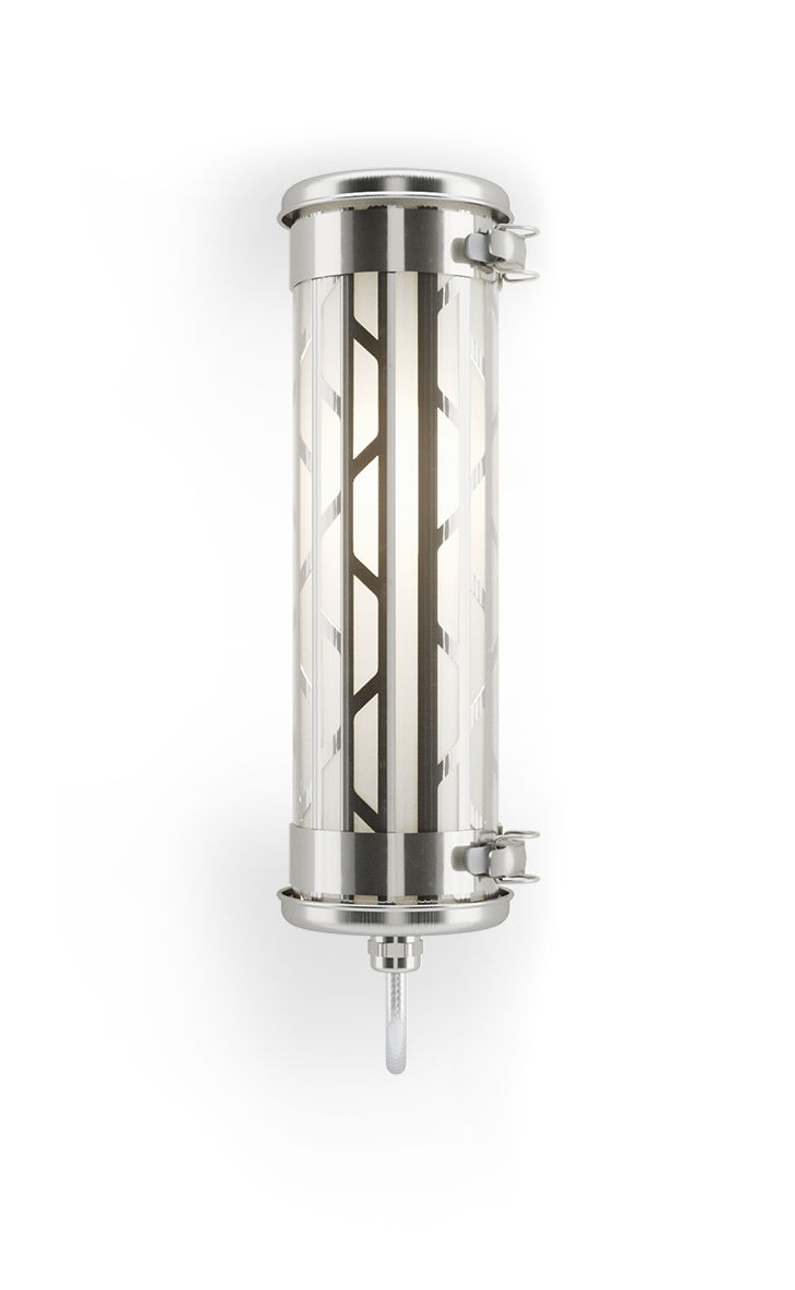 Luminaire - Appliques - Applique Belleville Mini / L 36 cm - SAMMODE STUDIO - Acier - Acier inoxydable, Aluminium anodisé, Polycarbonate