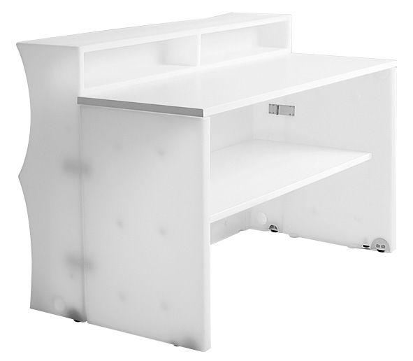 Mobilier - Mange-debout et bars - Bar Baraonda avec plan de travail + étagère - MyYour - Bar blanc -
