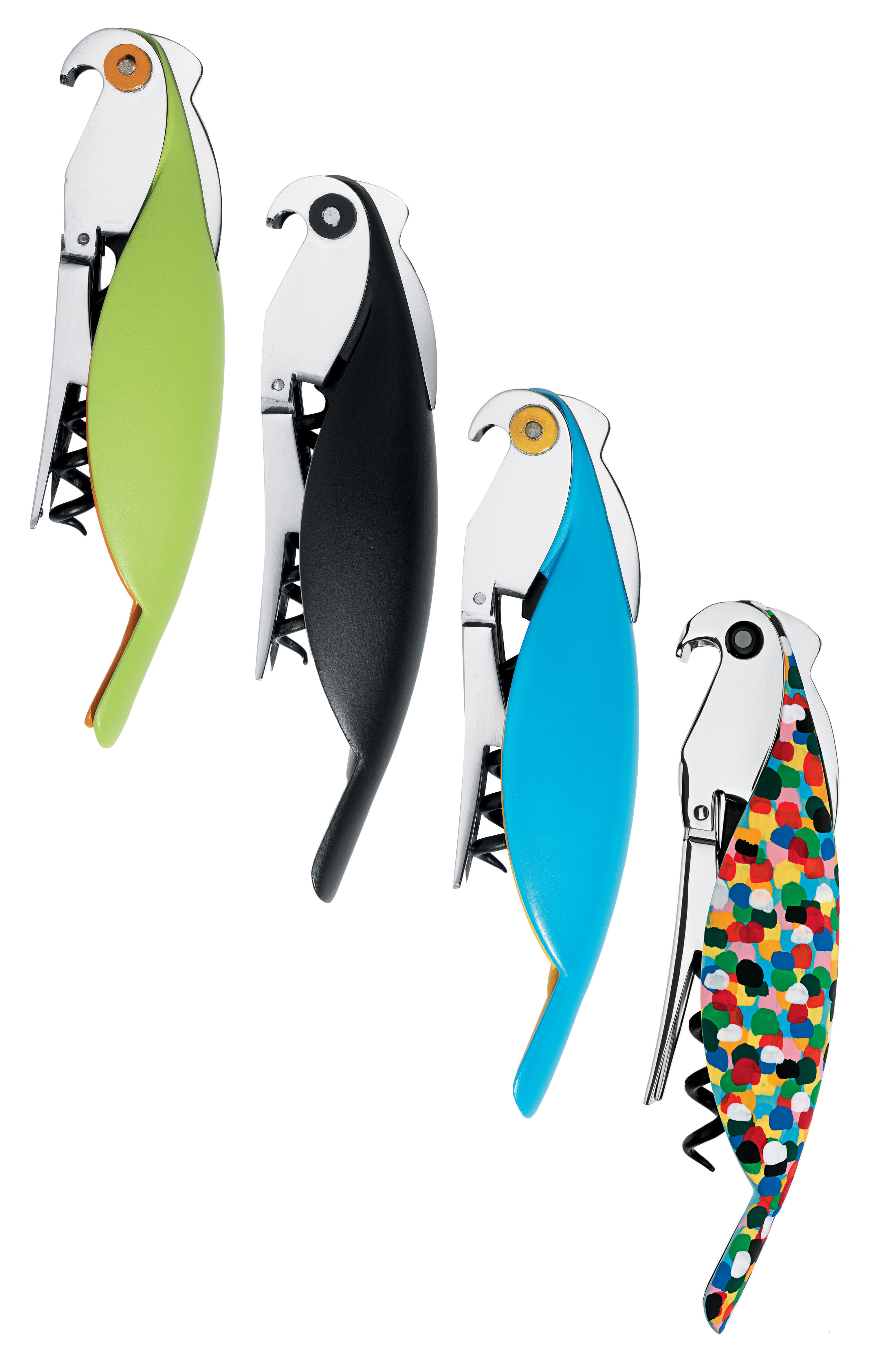 Kitchenware Fun In The Kitchen Parrot Bottle Opener By A Di Alessi Black