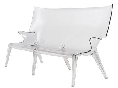 Mobilier - Canapés - Canapé droit Uncle Jack / L 190 cm - Kartell - Cristal - Polycarbonate