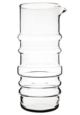 Arts de la table - Carafes et décanteurs - Carafe Sukat Makkaralla / 1L - Verre soufflé bouche - Marimekko - Transparent - Verre soufflé bouche