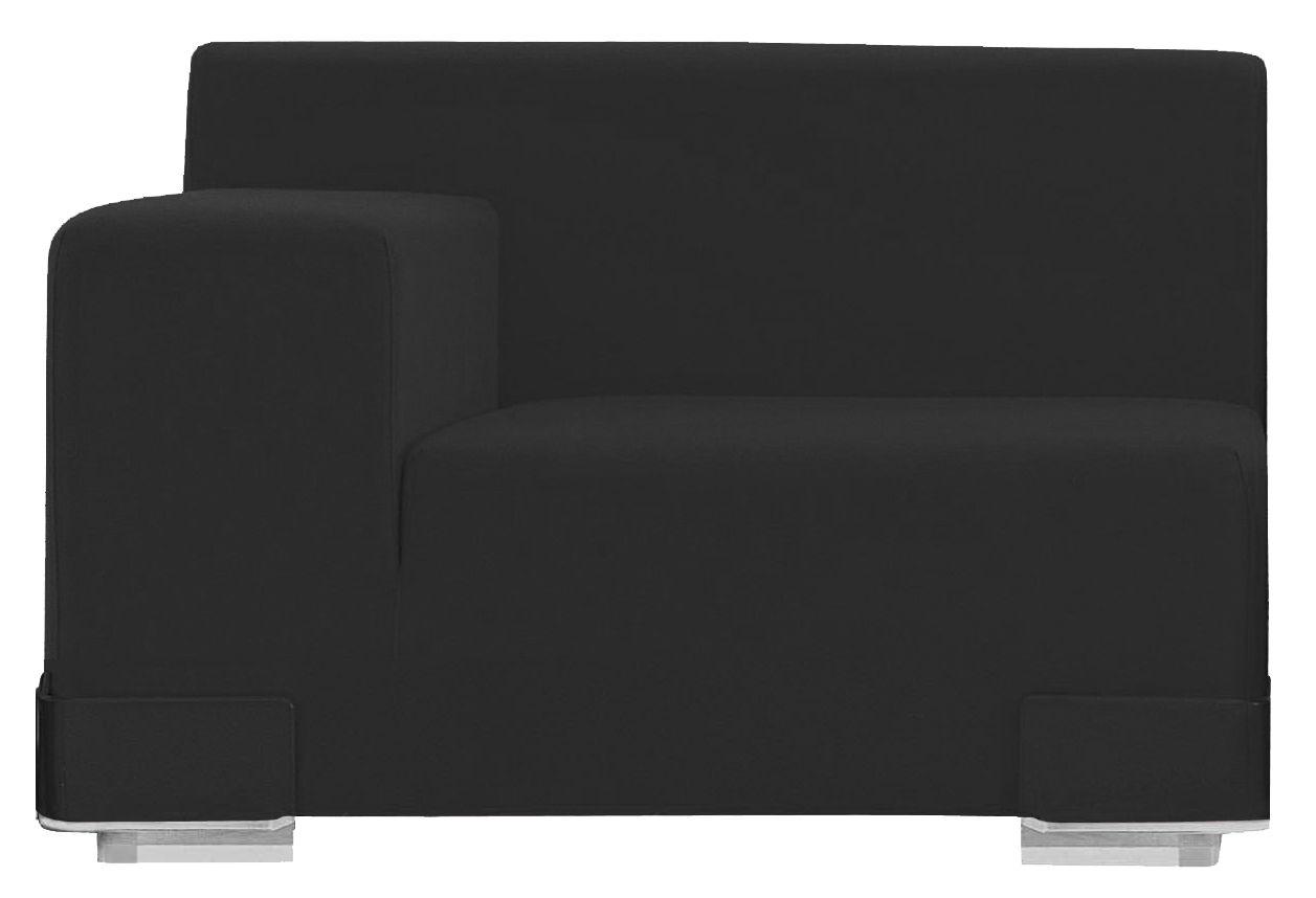 Arredamento - Divani moderni - Divano modulabile Plastics - Bracciolo destro di Kartell - Antracite - policarbonato, Poliuretano