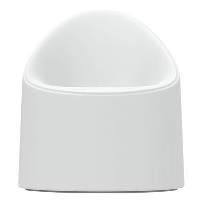Mobilier - Fauteuils - Fauteuil Bay / Intérieur- Extérieur - Serralunga - Blanc - Polyéthylène