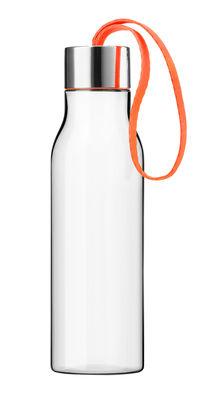 Arts de la table - Carafes et décanteurs - Gourde Small 0,5 L / Bouteille nomade plastique écologique - Eva Solo - Cordon orange / Transparent - Plastique écologique