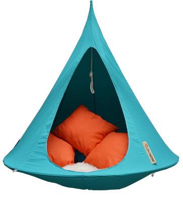 Outdoor - Sonnenliegen, Liegestühle und Hängematten - Hängesessel / Ø 150 cm - 1-Sitzer - Cacoon - Türkisblau - Leinen