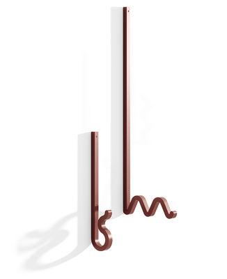 Furniture - Coat Racks & Pegs - Zag Hook - / Set of 2 - Steel by La Chance - Brick red - Painted steel