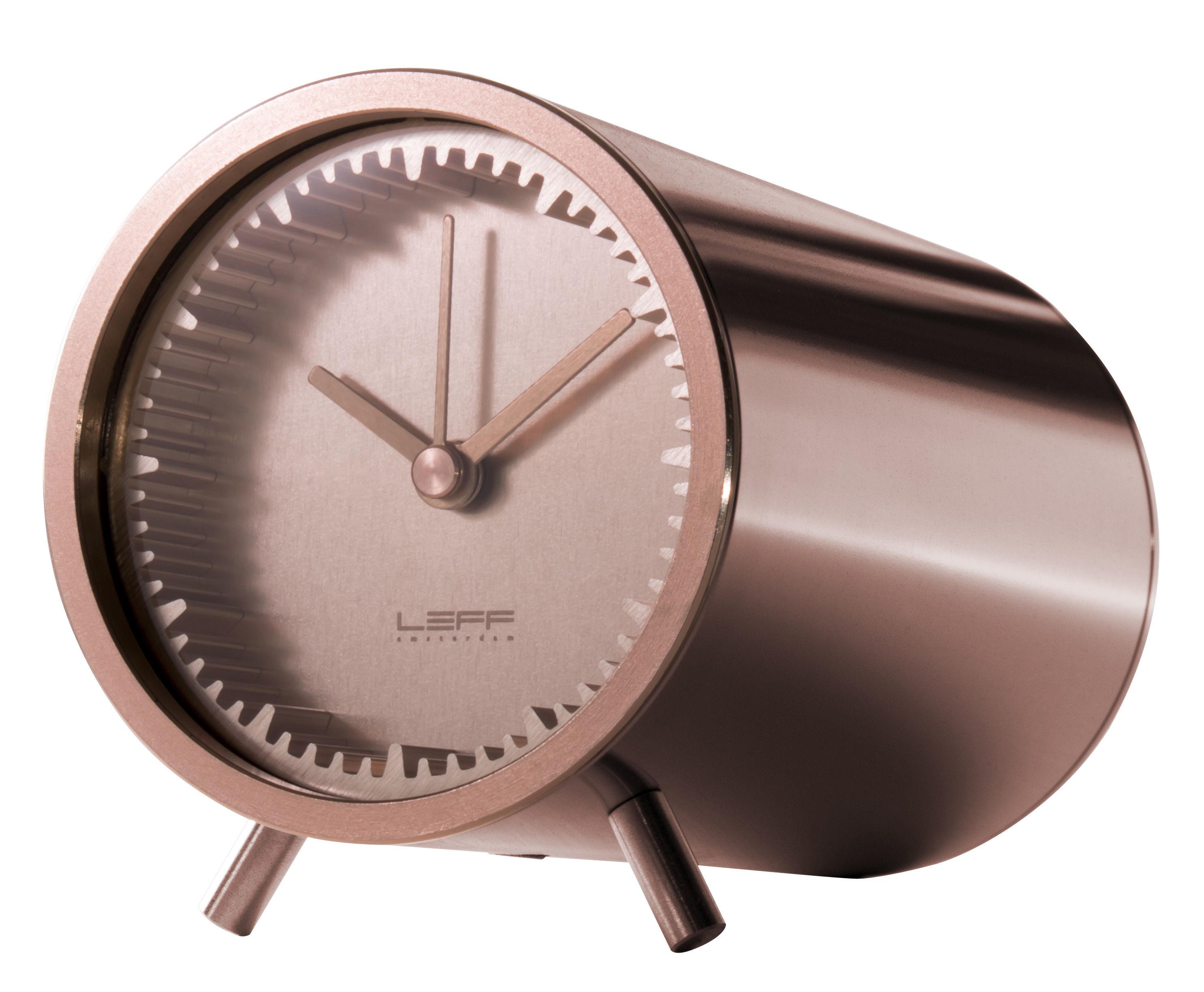 Déco - Horloges  - Horloge à poser Tube / Ø 5 cm - LEFF amsterdam - Cuivre - Acier inoxydable