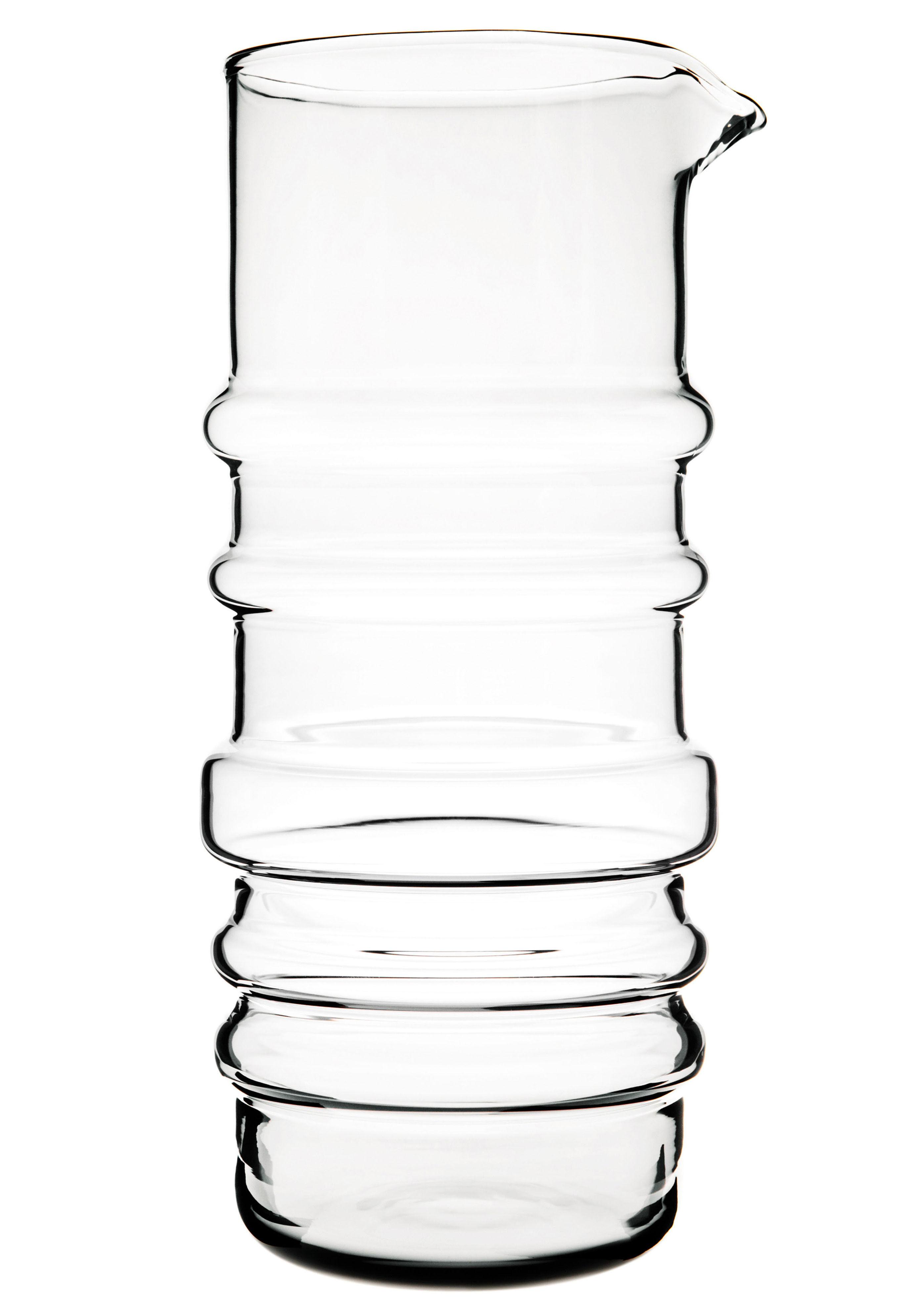 Tischkultur - Karaffen - Sukat Makkaralla Karaffe - Marimekko - Sukat Makkaralla - Transparent - mundgeblasenes Glas