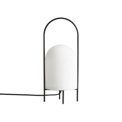 Illuminazione - Lampade da tavolo - Lampada da tavolo Ghost - / Vetro di Woud - bianco nero - metallo verniciato, Vetro