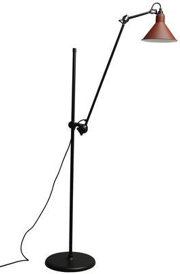 Lampadaire N°215L / H 142 à 230 cm - Lampe Gras - DCW éditions rouge en métal