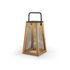 Lampe solaire Paseo / Bois & métal - H 31 cm / Recharge solaire ou secteur - Cinna