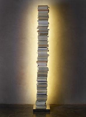 Arredamento - Scaffali e librerie - Libreria luminosa Ptolomeo Luce - / LED - H 160 cm di Opinion Ciatti - Bianco - Acciaio laccato