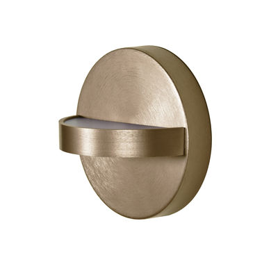Lighting - Wall Lights - Plus LED OUTDDOR Outdoor wall light - / For bathrooms - Ø 18 cm by ENOstudio - Gold - Anodized aluminium