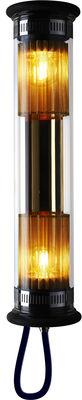 Leuchten - Wandleuchten - In The Tube 100-500 Outdoor-Wandleuchte / L 52 cm - DCW éditions - Goldfarben - Messing, rostfreier Stahl, Verre borosilicaté