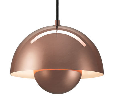 Lighting - Pendant Lighting - FlowerPot VP1 Cuivre Pendant by And Tradition - Copper - Lacquered copper