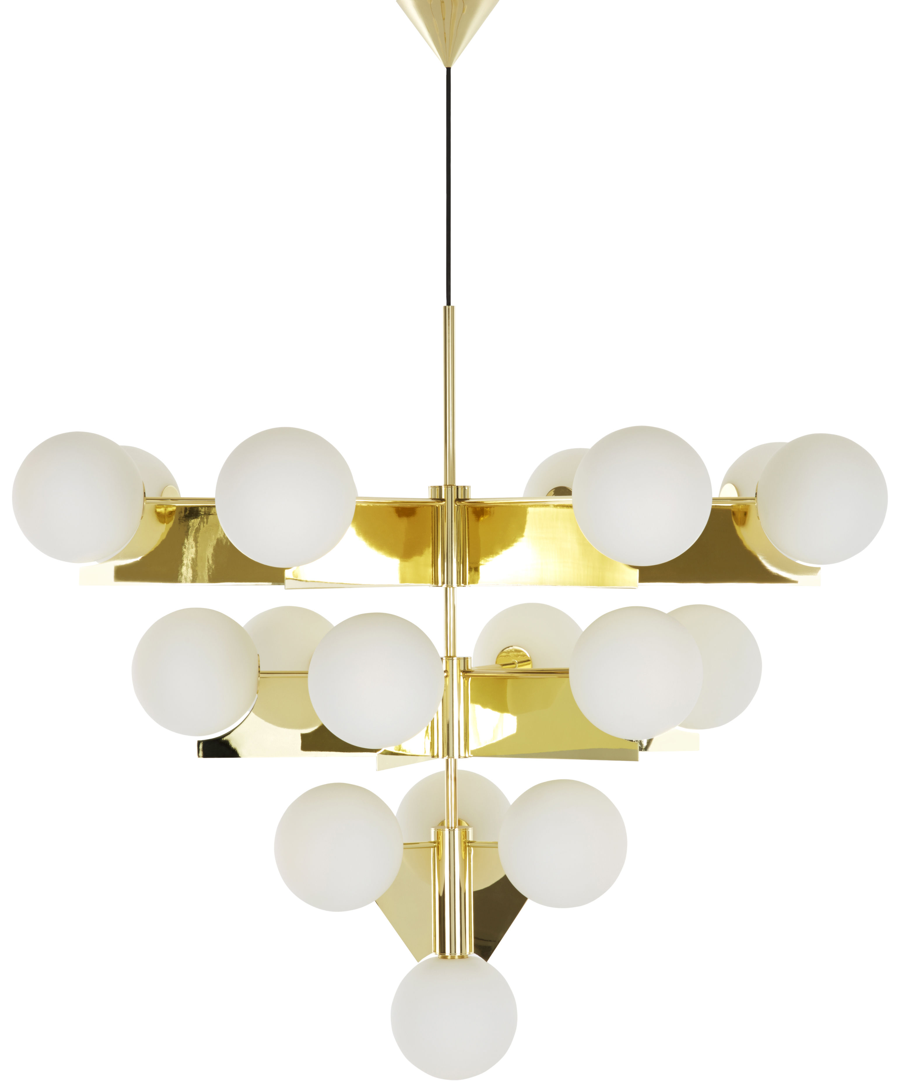 Lighting - Pendant Lighting - Plane Pendant by Tom Dixon - Polished brass - Brass plated steel, Glass