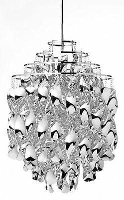 Spiral SP01 Pendelleuchte / Ø 45 cm - Panton 1969 - Verpan - Silber