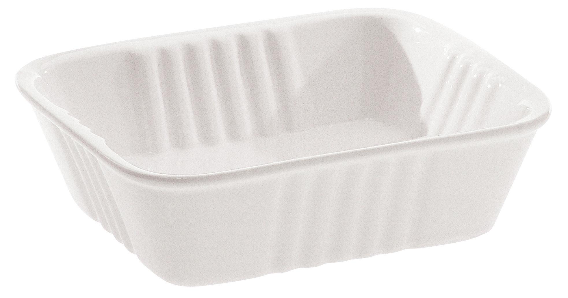 Tavola - Piatti da portata - Piatto Estetico quotidiano - 14 x 11 cm di Seletti - Bianco - Piatto - Porcellana